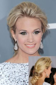 The most romantic prom look EVER! Get the tips to achieve Carrie's hair and makeup look here ;)