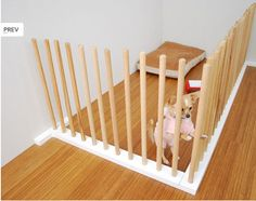 minimalist Japanese dog gate (so much prettier than that ugly baby gate we use!)