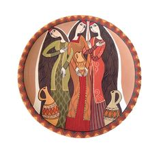 Decorative Plate Armenian Women This decorative plate was handmade and hand decorated with acrylic paints using the finest of brushes. Original plot