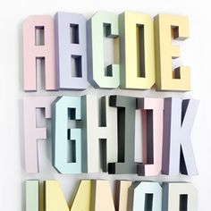 Printable templates for 3d letters from A to Z.