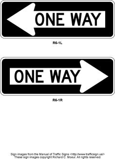 Other one way options (left please).