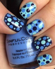 2-Color Polka Dot Nail Art