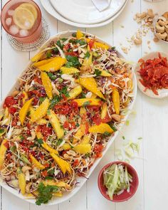 Whip up this simple & fresh Egg Noodle & Mango Salad recipe with a sweet & tangy dressing, bursting with Asian-style flavours. A delicious side dish or lunch. Fresh Egg, Mango Salad, Coleslaw Mix, Egg Noodles, Asian Style, Pasta Salad, Salad Recipes, Side Dishes, Spicy