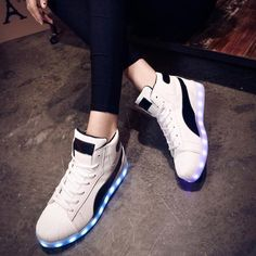 M1291 Led Sneakers White - Flashing.Shoes - 1