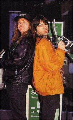 Photo of Bruce and Dave Murray for fans of Bruce Dickinson.