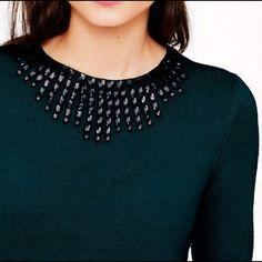 J crew starburst jeweled sweater | sz small Hunter green. A few loose jewels. Sz small J. Crew Sweaters