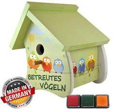 Vogelhaus-Motive / Lieferumfang Liebeslaube: