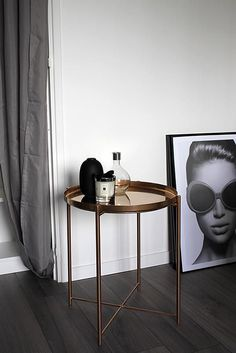 // IKEA HACK Gladom Table // DIY Table basse guéridon cuivrée