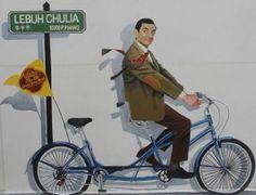 Mr. Bean, Georgetown, Penang Street Art, Malaysia