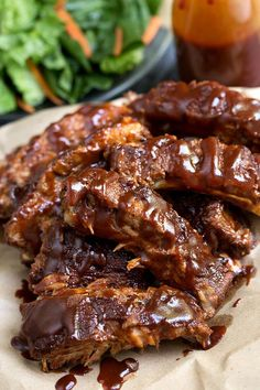 Instant Pot Baby Back Ribs recipe, with spice rub, liquid smoke, BBQ sauce. Cook 22 minutes in electric pressure cooker. Fall off the bone tender pork ribs