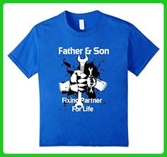 Kids Father Son Shirts Fixing Partner For Life Mechanic T Shirt 6 Royal Blue - Relatives and family shirts (*Amazon Partner-Link)