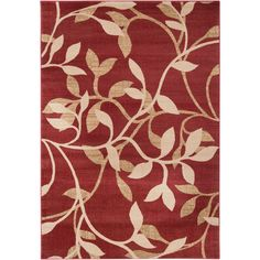 Meticulously made, this transitional Clifton rug features a bold leaf pattern available in a choice of two colorways. Its unique design makes this rug a perfect addition to any home.