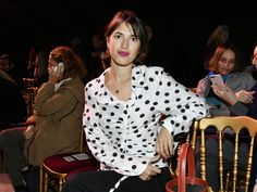 Front Row at Paris Fashion Week Fall 2017: Jeanne Damas front row at Jacquemus