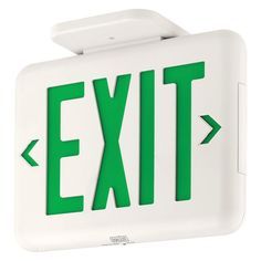 Dual-Lite Thermoplastic LED Emergency Exit Sign
