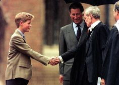 But Mr Lewis, right, who later went on to head Eton while princes William and Harry, left, were at the school, said he 'didn't think it was necessarily my business,' to report the claims to the police