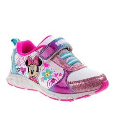 9d79ef30b79f Look at this Minnie Mouse White   Purple Sneaker by Minnie s Bow-Tique