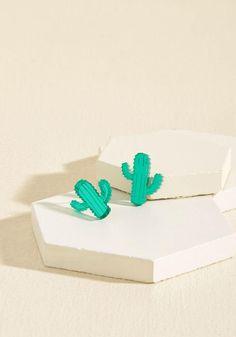 #ModCloth - #Vinca Vinca Cacti Delight Earrings - AdoreWe.com