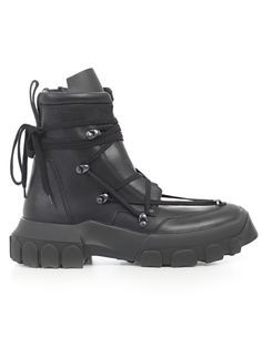 Sneakers from Rick Owens: Black Black SneakersComposition: Leather Rubber Rick Owens Sneakers, Rick Owens Men, Winter Sneakers, Fancy Clothes, Shoe Boots, Shoes, Costume Design, Lace Up Boots, Winter Boots