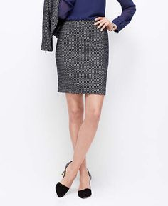 Clothing, Shoes & Accessories Aspiring Ann Taylor Stretch Navy Pinstripe Pencil Skirt 2