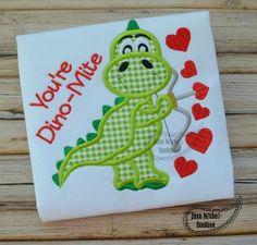 Dino Valentine applique - Beau Mitchell Boutique