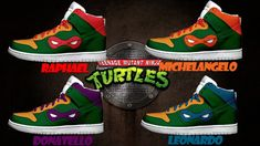 men 39 s light up teenage mutant ninja turtles shoes by. Black Bedroom Furniture Sets. Home Design Ideas
