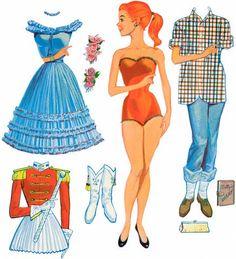 fairieblog: Vintage paper dolls