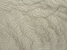 Original Topographic Map Drawing. Pen and ink by Shannon Keller.