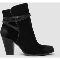 AllSaints Victoria Heel Boot ($360) ❤ liked on Polyvore featuring shoes, boots, black, genuine leather boots, vintage leather boots, heel boots, famous footwear and high heel shoes