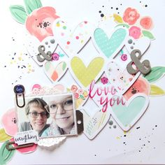 #papercrafting #scrapbooking #layouts - Love you by madamerosenrot