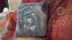 A new bag using upcycled jeans
