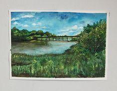 Watercolor Paper, Art Direction, New Work, Fields, Bridge, Behance, Paintings, Gallery, Drawings