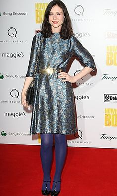 At a 2009 charity party Sophie Ellis Bextor worked this cute 70s shift with sparkling accessories for a party-perfect look.