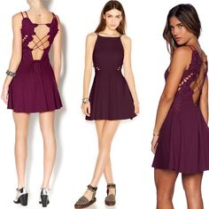 MAKE OFFERNWT Free People Like a Dream Dress OPEN TO REASONABLE OFFERS Brand new, tags still on! Super cute dark purple dress. Fabric provides a bit of stretch. High neck. Open back and flower detail on sides. Love it but have no place to wear it. Free People Dresses Mini