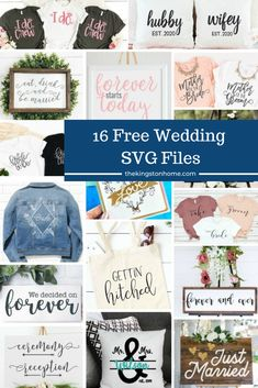 Looking for something ''borrowed'' for an upcoming wedding? Then check out these 16 FREE Wedding SVG files that you can ''borrow'' all day long! Cricut Wedding, Wedding Cards, Wedding Favors, Wedding Ideas, Diy Decorations Tutorial, Diy Crafts For Adults, Country Chic Cottage, Reception Signs, Paper Companies