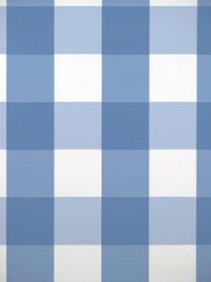 Gingham Wallpaper - Scalamandre repeat (i. about a square) Plaid Wallpaper, Wallpaper Ceiling, Pattern Wallpaper, Love Blue, Blue And White, Fabulous Fabrics, Baby Boy Nurseries, Baby Design, Textile Patterns
