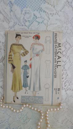 McCall 86 - 1930s elegance- beautiful details - SOLD by Thirdxsacharm on Etsy