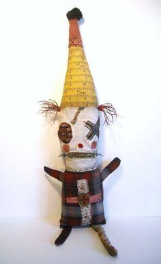 Handmade Art Doll Monster Clown Beebo by JunkerJane on Etsy, $195.00