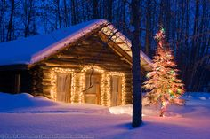 Log cabins - Images | AlaskaPhotoGraphics.com