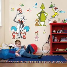 Dr. Seuss Giant Wall Decals by Birthday Express - Wall Decals Quotes