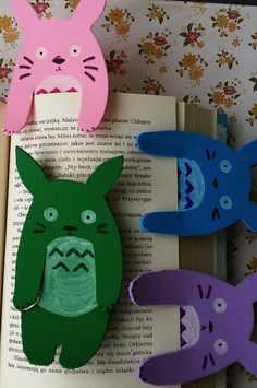 totoro foam bookmark colourful by Kats13stuff on Etsy