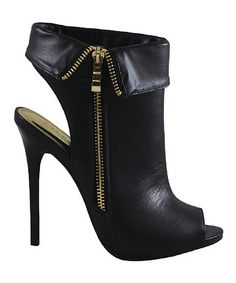 Take a look at the Black Azela Bootie on #zulily today!