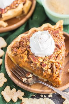 Pecan Pumpkin Pie is the ultimate mashup of classic Thanksgiving desserts! A luscious layer of pumpkin pie and a gooey layer of pecan pie! Pumpkin Pecan Pie, Pumpkin Pie Recipes, Baked Pumpkin, Pumpkin Dessert, Bourbon Pecan Pie, No Bake Pumpkin Cheesecake, Sweet Tarts, Thanksgiving Desserts, Savoury Cake