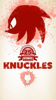 Knuckles the Echidna/Sonic's anniversary Sonic The Hedgehog, Hedgehog Art, Knuckles The Echidna, Sonic & Knuckles, Sonic 25th Anniversary, Mobile Wallpaper, Iphone Wallpaper, Sonic Generations, Classic Sonic