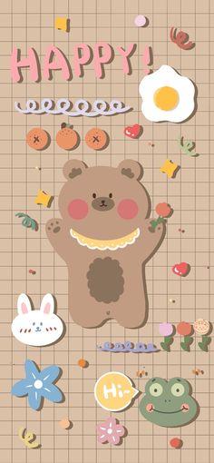 Cute Pastel Wallpaper, Soft Wallpaper, Bear Wallpaper, Cute Patterns Wallpaper, Kawaii Wallpaper, Cute Wallpaper Backgrounds, Wallpaper Iphone Cute, Cute Cartoon Wallpapers, Galaxy Wallpaper
