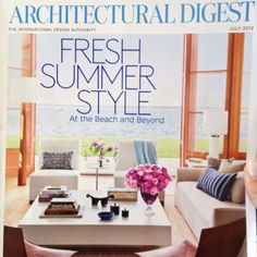 Architectural Digest cover July 2012