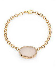 Nest - Druzy Geode Necklace. Available at saksfifthavenue.com