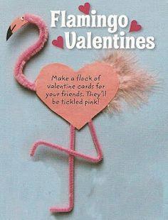 Working Mommy is Redundant: Florida Flamingo Valentines Cards