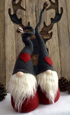 Swedish Norwegian TOMTE NISSE GNOME or SANTA can be Christmas Decor, Valentines Day or all year round Decoration! Features bendable hat to position any way you desire! Weighted bottom for extra stability! There may be slight differences in ones pictured as each one is individually