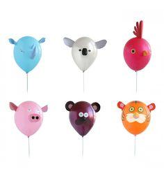 Divertidísimos globos con forma de animales - fiesta infantil - fiesta de cumpleaños