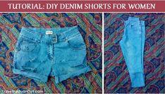 DIY Denim Shorts for Travel (or home) http://travelfashiongirl.com/diy-denim-shorts-for-women/ #DIY #Travel #Fashion